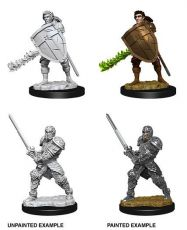 D&D Nolzur's Marvelous Miniatures Unpainted Miniatures Male Human Fighter Case (6)