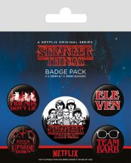 Stranger Things Pin Placky 5-Pack Characters