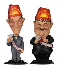 Laurel and Hardy Mini Bobble-Head 2-Pack Sons of the Desert 8 cm