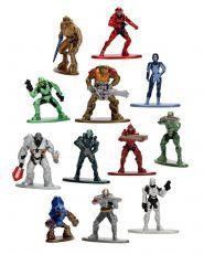 Halo Nano Metalfigs Kov. Mini Figures 4 cm Sada (24)