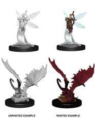 D&D Nolzur's Marvelous Miniatures Unpainted Miniatures Sprite & Pseudodragon Case (6)