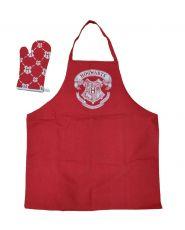 Harry Potter cooking Zástěra with oven mitt Bradavice Logo