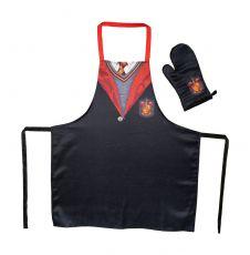 Harry Potter cooking Zástěra with oven mitt Nebelvír School Uniform