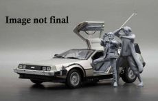 Back to the Future Kov. Model 1/18 1983 DeLorean with Marty McFly Figure