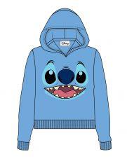 Lilo & Stitch Dámské Hooded Mikina Stitch Face Velikost S