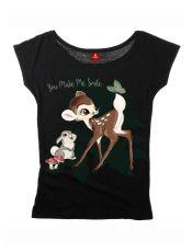 Bambi Dámské Loose Tričko Smile Velikost L