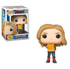 Captain Marvel POP! Marvel vinylová Bobble-Head Figure Captain Marvel w/Lunch Box 9 cm
