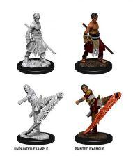 D&D Nolzur's Marvelous Miniatures Unpainted Miniatures Male Half-Elf Monk Case (6)