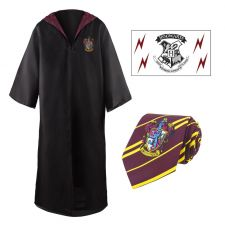 Harry Potter  Robe, Nectie & Tattoo Set Nebelvír Velikost M