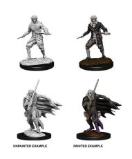 Pathfinder Battles Deep Cuts Unpainted Miniatures Male Elf Rogue Case (6)