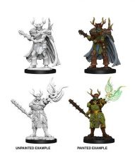 Pathfinder Battles Deep Cuts Unpainted Miniatures Male Half-Orc Druid Case (6)