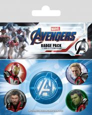 Avengers: Endgame Pin Placky 5-Pack Quantum Realm Suits