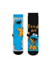 Sesame Street Mens Ponožky 2-Pack Cookie Monster V2