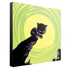 Marvel Wooden Nástěnná Art Black Panther by Skottie Young 30 x 30 cm