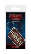Stranger Things Gumový Keychain Leaving Hawkings 6 cm
