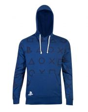 Sony PlayStation Hooded Mikina AOP Icons Velikost M