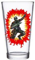 G.I. Joe Skleněná Pinta Glass Snake Eyes
