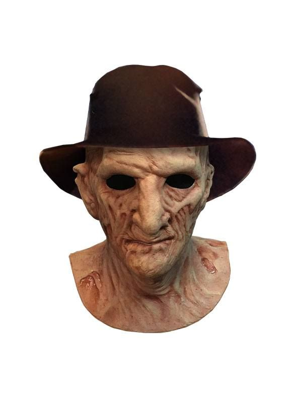 A Nightmare on Elm Street 2: Freddy's Revenge Deluxe Latex Mask with Hat Freddy Krueger Trick Or Treat Studios