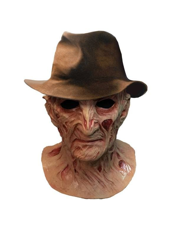 A Nightmare on Elm Street 4: The Dream Master Deluxe Latex Mask with Hat Freddy Krueger Trick Or Treat Studios