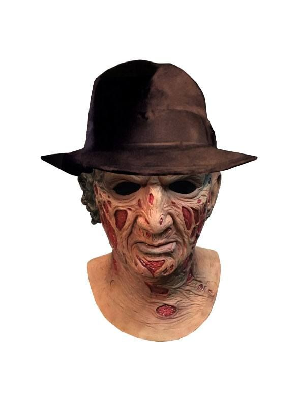A Nightmare On Elm Street Deluxe Latex Mask with Hat Freddy Krueger Trick Or Treat Studios
