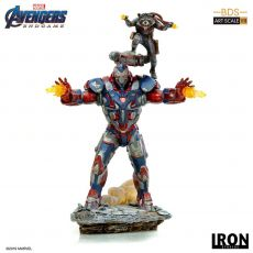 Avengers: Endgame BDS Art Scale Soška 1/10 Iron Patriot & Rocket 28 cm