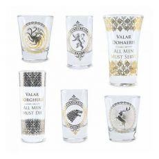 Game of Thrones Premium Shotglasses 6-Pack Black & Gold