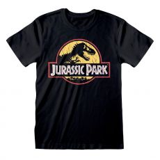 Jurassic Park Tričko Original Logo Distressed Velikost M