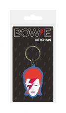 David Bowie Gumový Keychain Aladdin Sane 6 cm