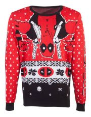 Marvel Knitted Christmas Mikina Deadpool Upside Down Velikost M