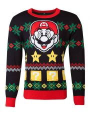 Nintendo Knitted Christmas Mikina Super Mario Night Velikost M