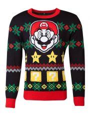 Nintendo Knitted Christmas Mikina Super Mario Night Velikost S