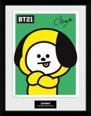 BT21 Zarámovaný Plakát Chimmy