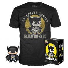 DC Comics POP! & Tee Box Batman Sun Faded heo Exclusive Velikost M