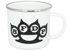 Five Finger Death Punch Enamel Hrnek White Logo