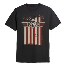 Top Gun Tričko Flag Velikost M