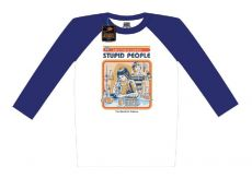 Steven Rhodes Raglan Baseballová Long Sleeve Shirt Let's Find A Cure For Stupid People Velikost S