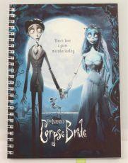 Corpse Bride Poznámkový Blok Movie Plakát