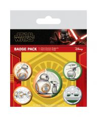 Star Wars Episode IX Pin Placky 5-Pack Droids