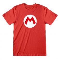 Nintendo Super Mario Tričko Mario Odznak Velikost L