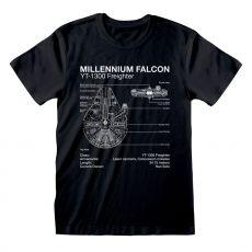Star Wars Tričko Millenium Falcon Sketch Velikost S