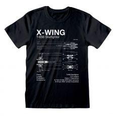 Star Wars Tričko X-Wing Sketch Velikost M