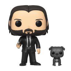 John Wick POP! Movies vinylová Figure John Wick in Black Suit with Dog 9 cm
