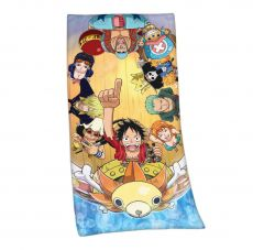 One Piece Velour Ručník Straw Hat Pirates 75 x 150 cm