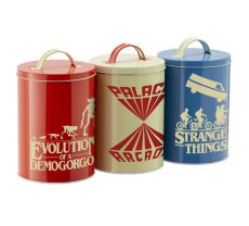 Stranger Things Kitchen Storage Tins Silhouette