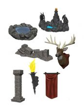 WizKids Deep Cuts Unpainted Miniatures Pools & Pillars