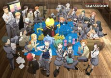 Assassination Classroom Nástěnná Decoration Koro with Class 3-E 140 x 200 cm