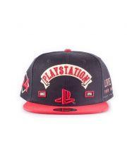 Sony PlayStation Biker Snap Back Baseballová Kšiltovka Logo