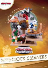 Disney Mickey Mouse D-Stage PVC Diorama Hodiny Cleaners 15 cm