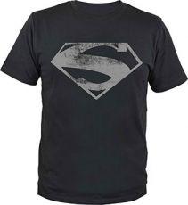 Superman Tričko Man of Steel Logo Velikost L