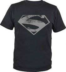 Superman Tričko Man of Steel Logo Velikost XXL